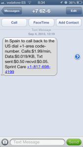 Text from sprint