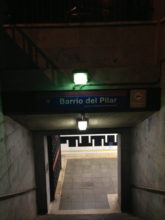 Barrio del Pilar Metro Entrance
