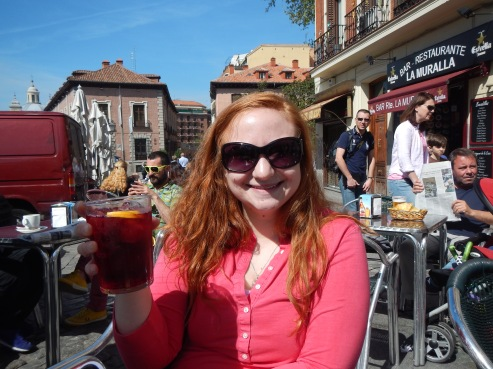 Sophia and her first ever tinto de verano!