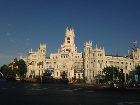 Plaza de Ciebeles where Real Madrid celebrates (Background, the post office of spain)